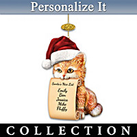 Making Santa\'s Good List Personalized Ornament Collection