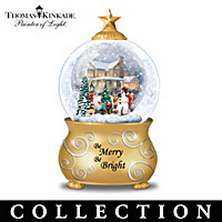 Thomas Kinkade Merry Holiday Moments Snowglobe Collection