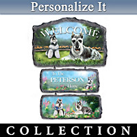 Lovable Schnauzers Personalized Welcome Sign Collection