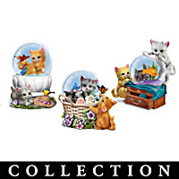 Just Kitten Around Glitter Globe Collection