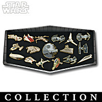 STAR WARS 24K Gold-Plated Galactic Pin Collection