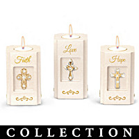 Faith, Hope, And Love Candleholder Collection