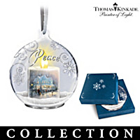 Thomas Kinkade Candle\'s Glow Ornament Collection
