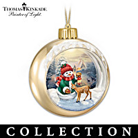 Thomas Kinkade Snow-Wonderful Friends Ornament Collection