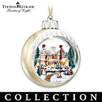 Thomas Kinkade Looking Glass Village Ornament Collection