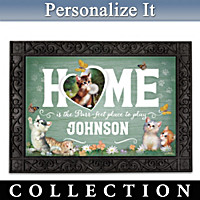 Happy Paws Personalized Welcome Mat Collection