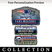New England Patriots Personalized Welcome Sign Collection