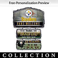 Pittsburgh Steelers Personalized Welcome Sign Collection