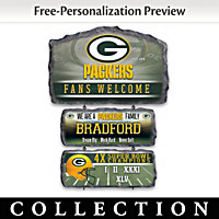 Green Bay Packers Personalized Welcome Sign Collection