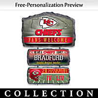 Kansas City Chiefs Personalized Welcome Sign Collection