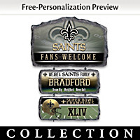 New Orleans Saints Personalized Welcome Sign Collection