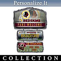 Washington Redskins Personalized Welcome Sign Collection