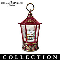 Thomas Kinkade Snow Wonderful Snowglobe Lantern Collection