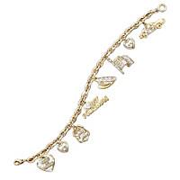 I Love My Policeman Charm Bracelet