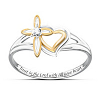 My Daughter\'s Faith And Love Diamond Ring