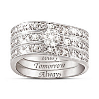Hidden Message Of Love Diamond Ring