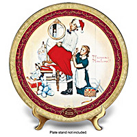 Santa\'s Surprise Collector Plate