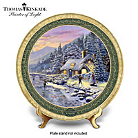 Thomas Kinkade Winter Evening Cottage Collector Plate