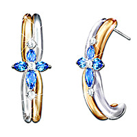 The Trinity Sapphire And Diamond Earrings