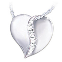 My Dear Granddaughter Diamond Pendant Necklace