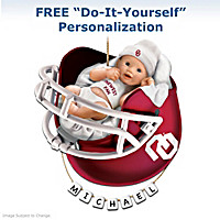 Oklahoma Sooners Personalized Baby's First Ornament