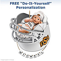 OSU Cowboys Personalized Baby\'s First Ornament