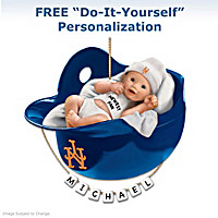New York Mets Personalized Baby\'s First Ornament