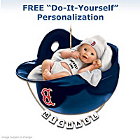 Boston Red Sox Personalized Baby\'s First Ornament