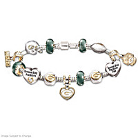 Go Packers! #1 Fan Charm Bracelet