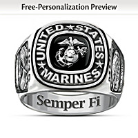 USMC Semper Fi Personalized Ring