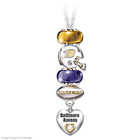 Go Ravens! #1 Fan Charm Necklace