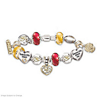 Go Chiefs! #1 Fan Charm Bracelet