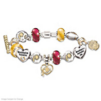 Go Redskins! #1 Fan Charm Bracelet