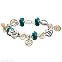 Go Eagles! #1 Fan Charm Bracelet