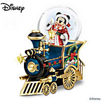 Disney Santa Mouse Is Comin\' To Town Miniature Snowglobe