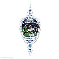 New England Patriots Super Bowl XLIX Crystal Ornament
