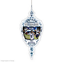 Seattle Seahawks Super Bowl XLVIII Crystal Ornament