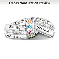 A Mother\'s Embrace Personalized Birthstone Ring