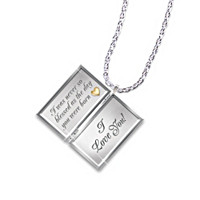 Dear Niece, Letter Of Love Diamond Pendant Necklace