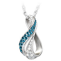 Cascade Of Beauty Diamond Pendant Necklace