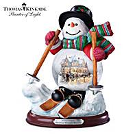 Thomas Kinkade Christmas Mountain Memories Snowglobe