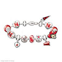 Go Cornhuskers! #1 Fan Charm Bracelet