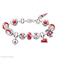 Go Badgers! #1 Fan Charm Bracelet