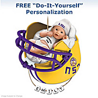 LSU Tigers Personalized Baby\'s First Ornament
