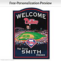 Philadelphia Phillies Personalized Welcome Sign