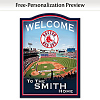 Boston Red Sox Personalized Welcome Sign