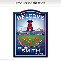 Los Angeles Angels Of Anaheim Personalized Welcome Sign