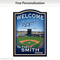 Kansas City Royals Personalized Welcome Sign