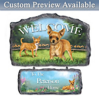 Lovable Chihuahuas Personalized Wall Decor