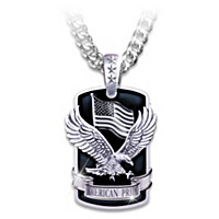 American Pride Dog Tag Pendant Necklace